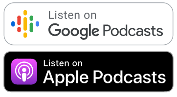 Google and Apple Podcasts logos